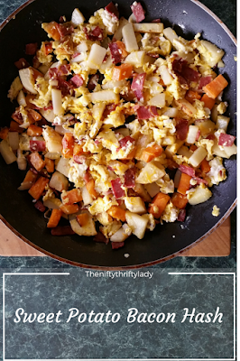 Sweet Potato Hash with Bacon