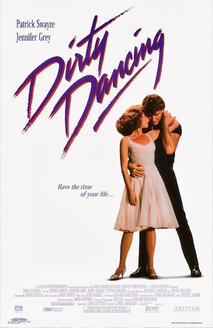 Cartaz (poster) do filme Dirty Dancing, com Patrick Swayze e Jennifer Grey. 1987.