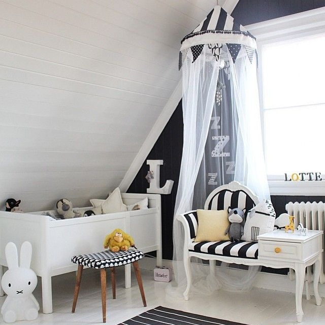 girlystan une chambre d 39 enfant en noir et blanc. Black Bedroom Furniture Sets. Home Design Ideas