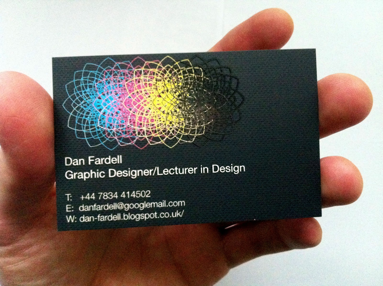 Dan fardell design lecturer thursday 190412 new business happy with the outcome the digital embossed element really adds definition and a new dynamic to the cards i cant wait to start handing them out reheart Image collections