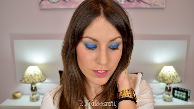 rubibeauty ahumado sencillo smokey eye azul