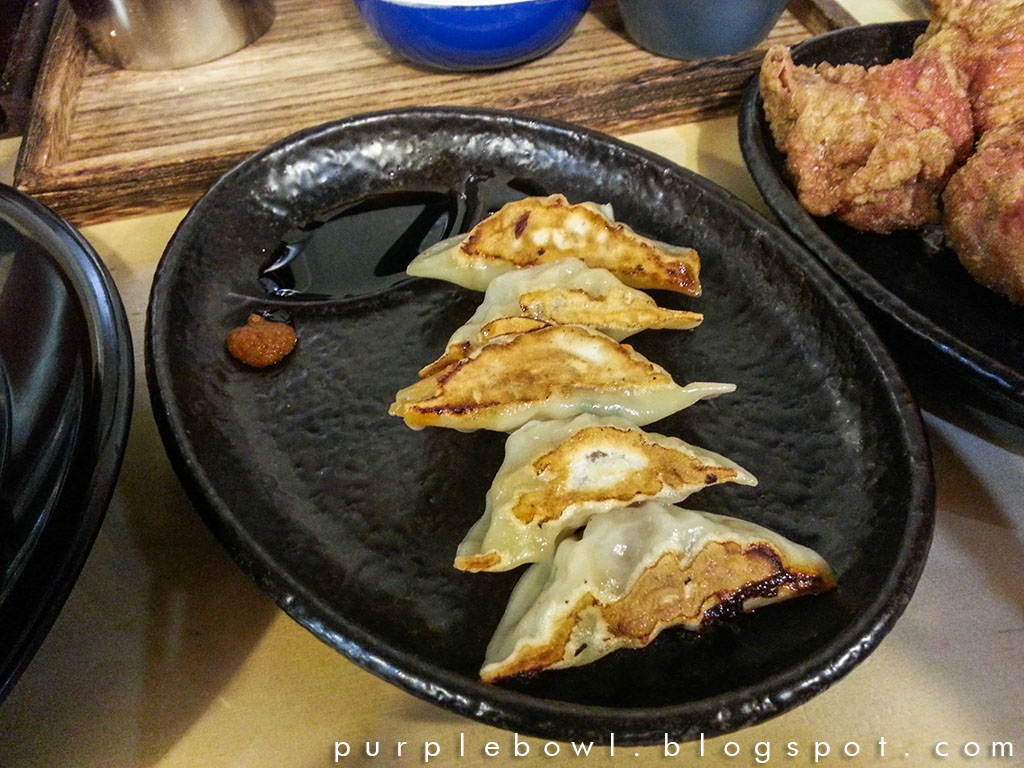 Pork dumplings at Hakata Gensuke