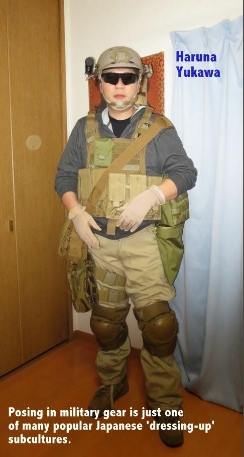 Yukawa Haruna - posing in tactical gear - Japan