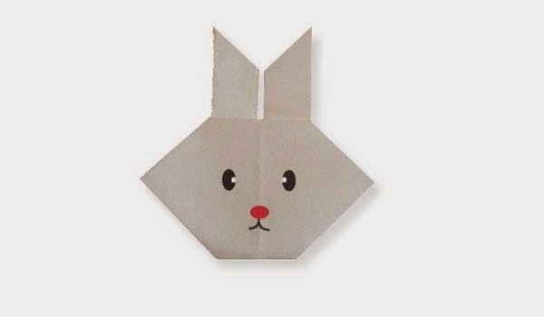 Hướng dẫn cách gấp Mặt con Thỏ giấy - Xếp hình Origami với Video clip