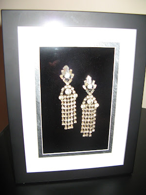 Art Deco Jewelry Earrings Framed Art