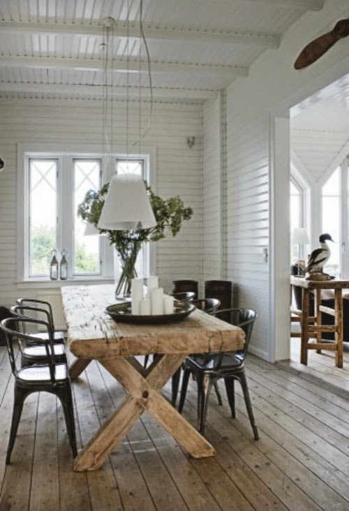 rustic farmhouse table industrial chairs