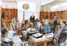 Noor Salman courtroom sketches.