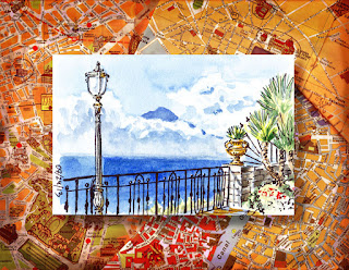 watercolor sketches of Italy
