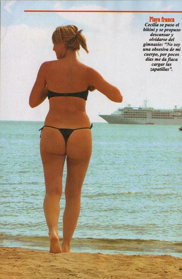 Cecilia Caramelito Carrizo nipple and huge as in thong