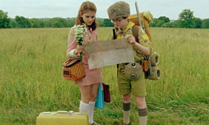 Kara Hayward y Jared Gilman en Moonrise Kingdom