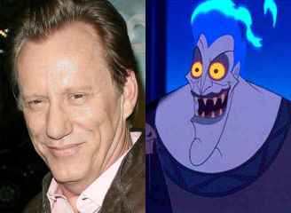 James Woods with his character Hercules 1997 disneyjuniorblog.blogspot.com