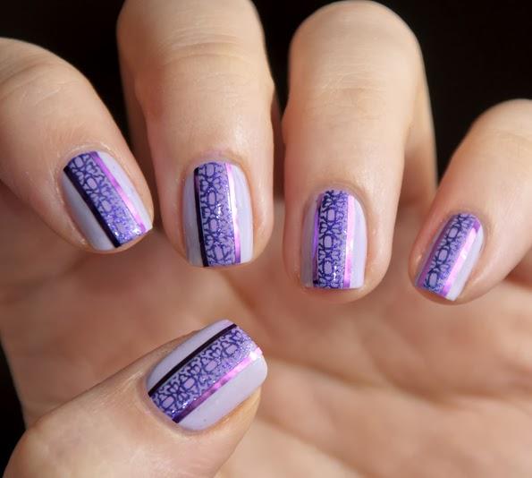nail art mauve