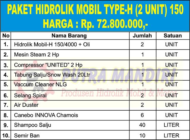 PAKET HIDROLIK MOBIL TYPE-H (2 UNIT) 150