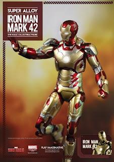 "Play Imaginative Super Alloy Iron Man 3 6"" Iron Man Mark 42 Figure"
