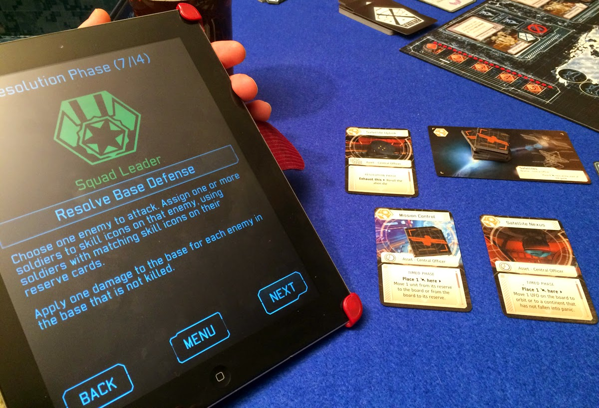 XCOM: The Board Game app in action