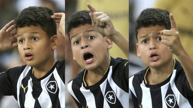 Sofrimento e revolta de pequeno torcedor do Botafogo é comevente