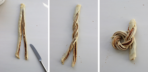 Wie backt man Maronen-Brioche-Knoten