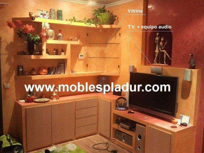 Pladur barcelona rinconera mueble pladur for Muebles de rinconera