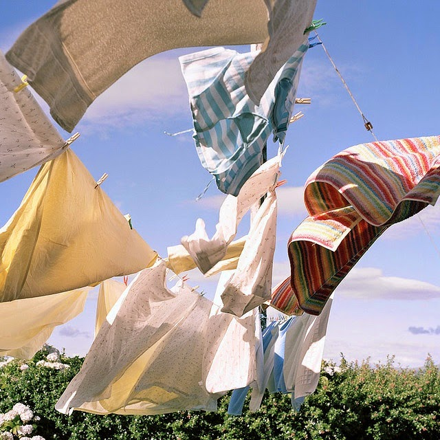 Clothes Drying On A Clothesline ~ Martha moments domestic insight drying laundry on the line