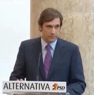 Pedro Passos Coelho Alternativa PSD Aumeto de Impostos