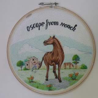 horse embroidery art