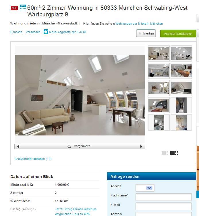 Wohnungsbetrug.blogspot.com: 55m² 2 Zimmer Wohnung In