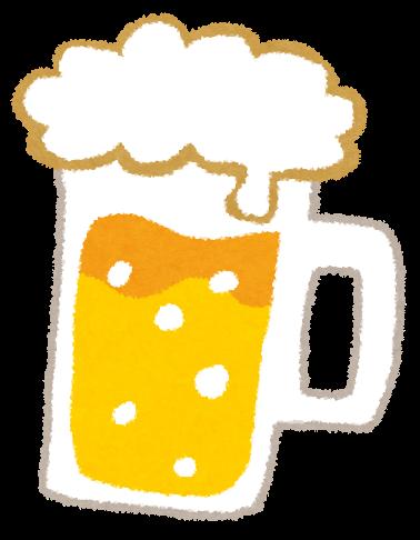 ビールのイラスト「ジョッキビール」