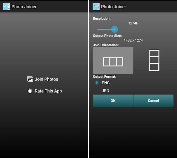 أسرع طريقة لدمج الصور أفقيا ورأسيا في الاندرويد والـ IOS