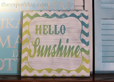 Hello sunshine spring artwork