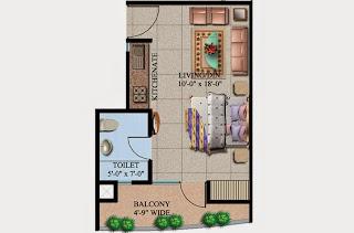 Ecociti :: Floor Plans,Super Area: 440 Sq. Ft.