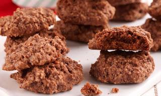 Biscoitos de chocolate e amêndoas light