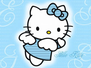 Hello Kitty warna Biru
