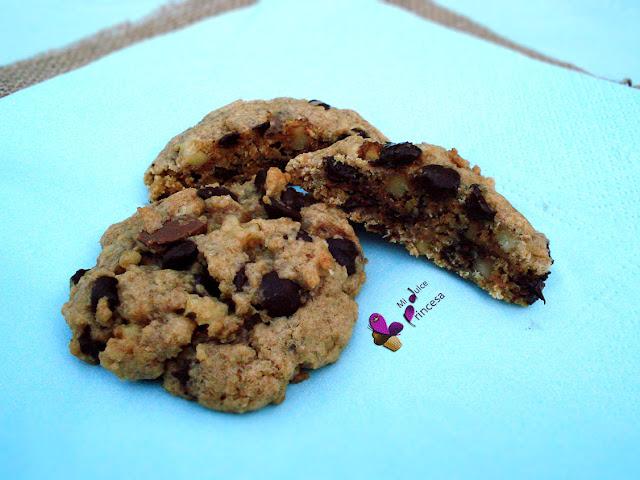 galletas, cookies, chocolate, avena, nueces, chocolate y nueces, galletas de avena chocolate y nueces,