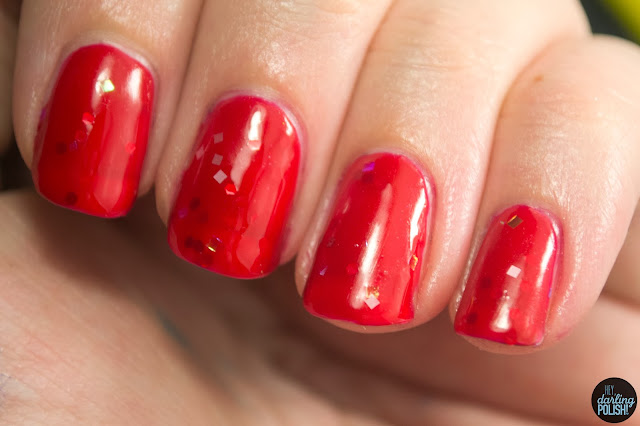 nails, nail polish, indie, indie polish, live life polished, hey darling polish, red, all red-y for you