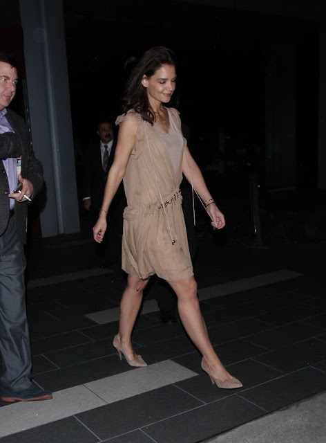 Actress, Model, @ Katie Holmes - Leaving Boa Steakhouse in West Hollywood