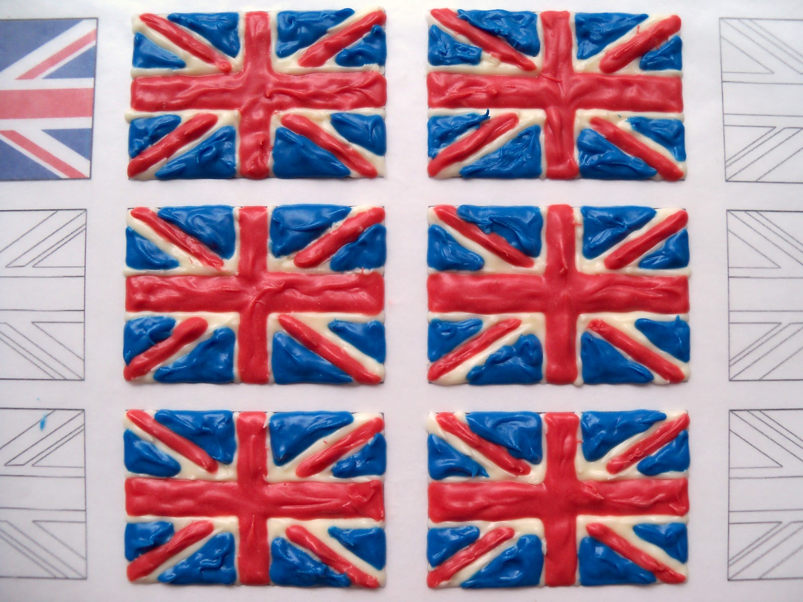 bird on a cake british flag union jack cupcake toppers