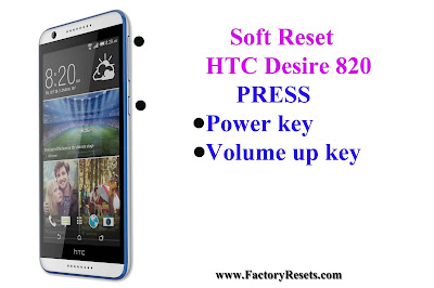 Soft Reset HTC Desire 820