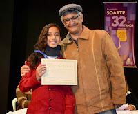 Márcio de Paula e a medalha de bronze Maria Clara Pires