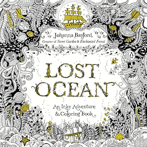 Lost Ocean Colouring In Book For Adults With Johanna Basford