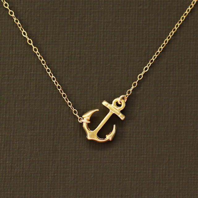 Gold Anchor Necklace2