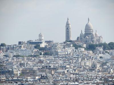 Arc De Triomphe view of Sacre Coeur Basilica from the top, Paris, France www.thebrighterwriter.blogspot.com