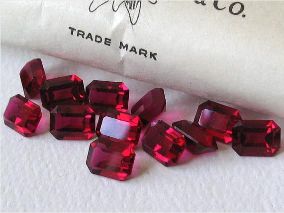 Vintage Ruby Swarovski Crystals #ruby #swarovski #vintage
