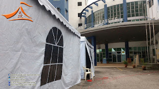 Our client have requested to setup a arabian canopy complete set with with french window side wall all 4 side. This was setup at balai polis brickfields.  #arabiancanopy #canopy #hightopkanopi #balaipolisbrickfields #balaipolis #brickfields #frenchwindowsidewall #sidewall #frenchwindows