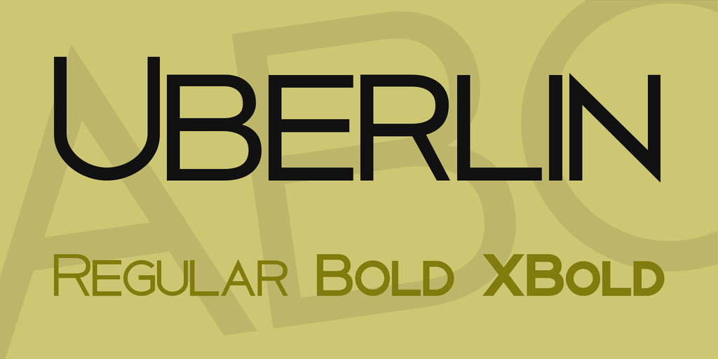 Uberlin Font