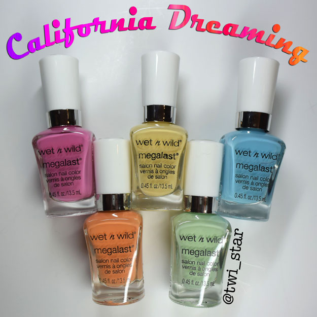 Wet N Wild California Dreaming Spring Summer 2015 Collection swatches
