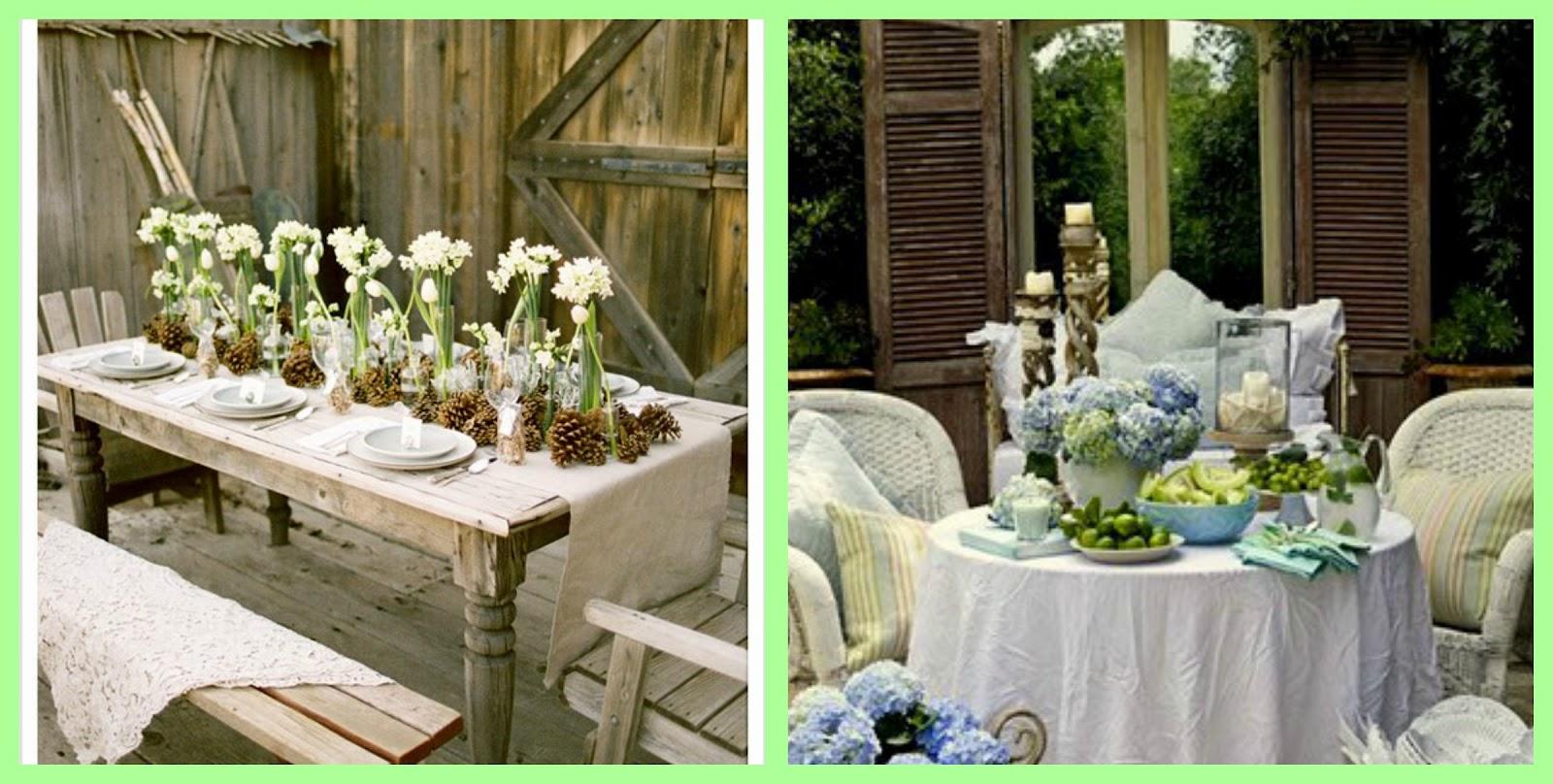 Fantasticamentebello la tavola in giardino for Tavole da pranzo