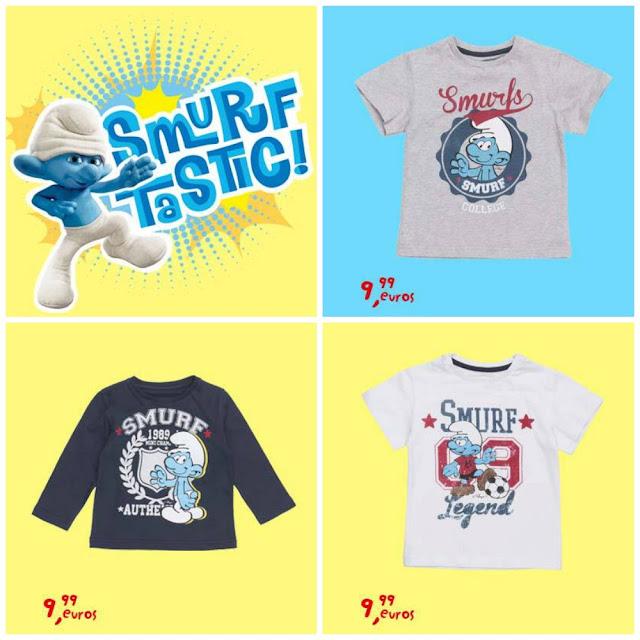 Camisetas Pitufos Niño