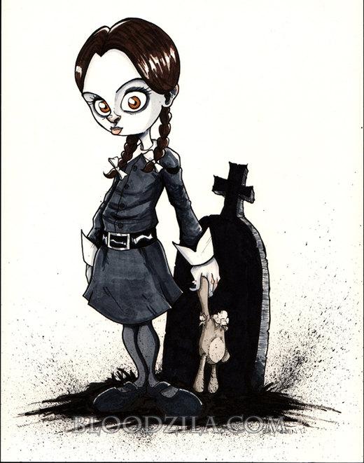 Wednesday Addams por Bloodzilla-Billy