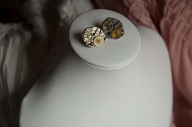 time traveler earrings tea teas treats dot etsy dot com