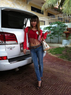 Votey Teav Khmer Girl Sexy Shirt and Hot Jean 14